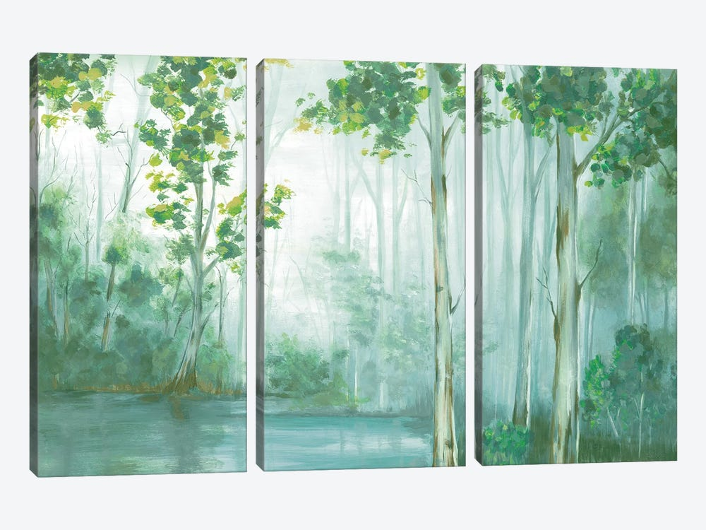 Swimming In Reflection by Eva Watts 3-piece Canvas Print