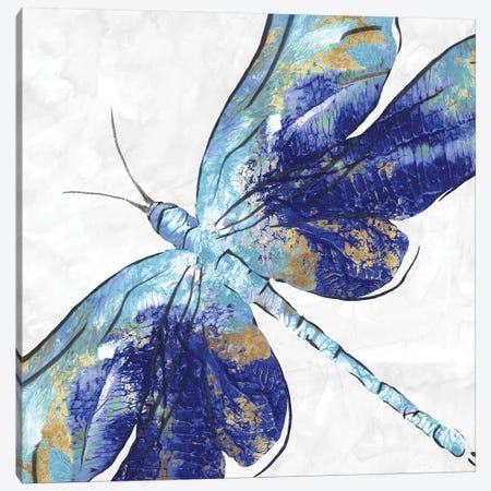 Blue Dragonfly  Canvas Print #EWA83} by Eva Watts Canvas Art