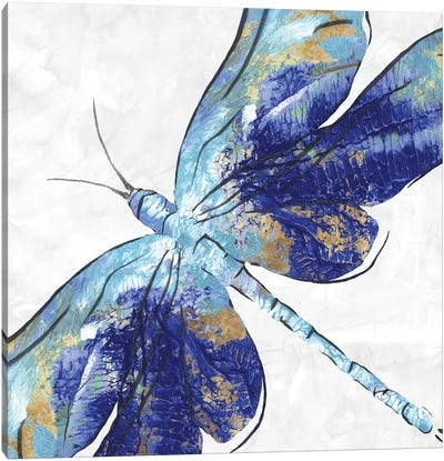 Blue Dragonfly  Canvas Art Print
