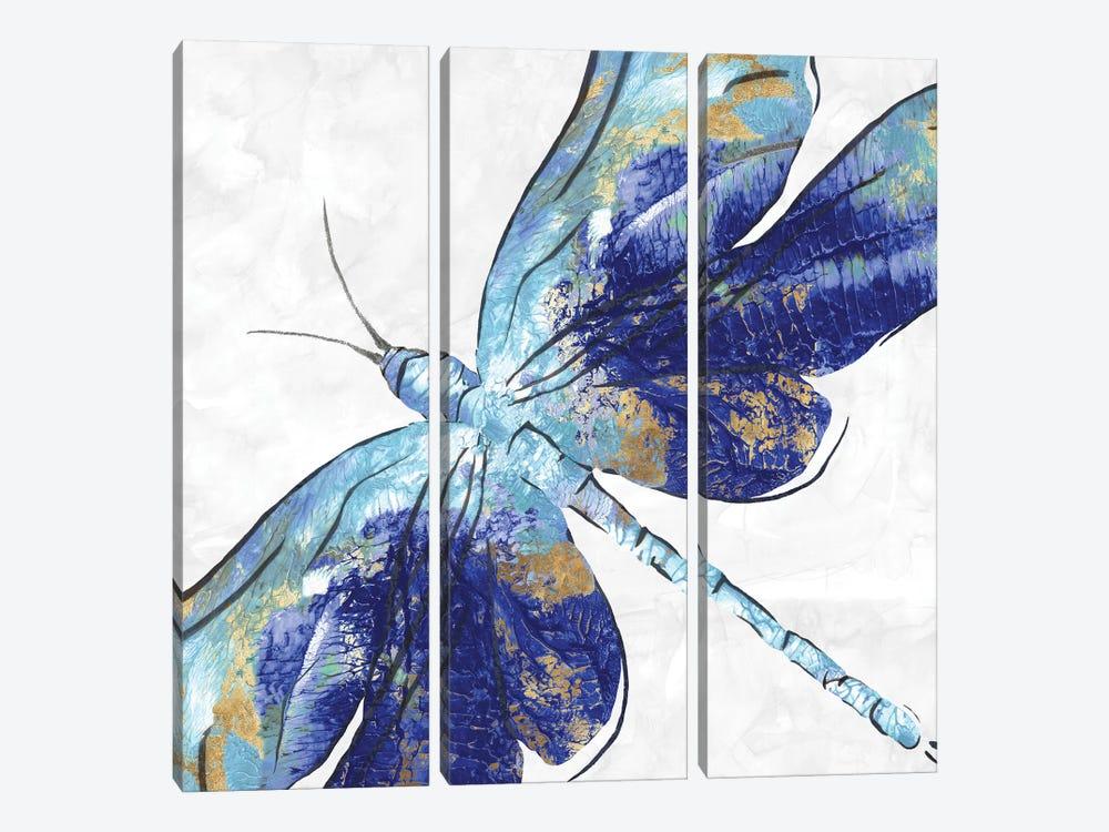 Blue Dragonfly  by Eva Watts 3-piece Canvas Artwork