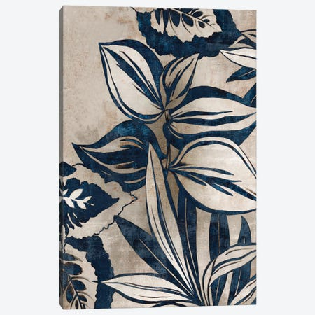 Blue Foliage I  Canvas Print #EWA84} by Eva Watts Art Print