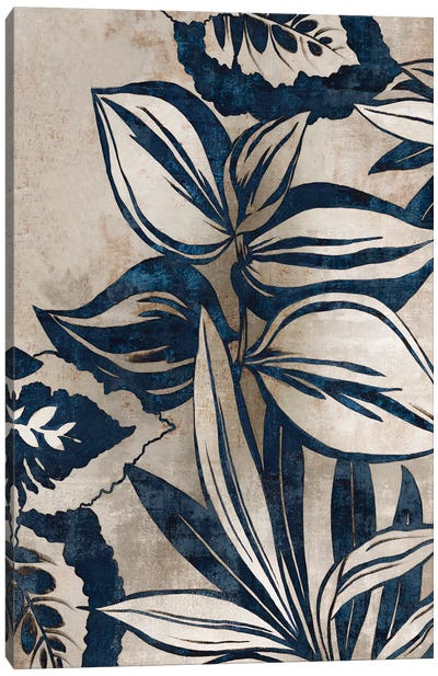 Blue Foliage I  Canvas Art Print