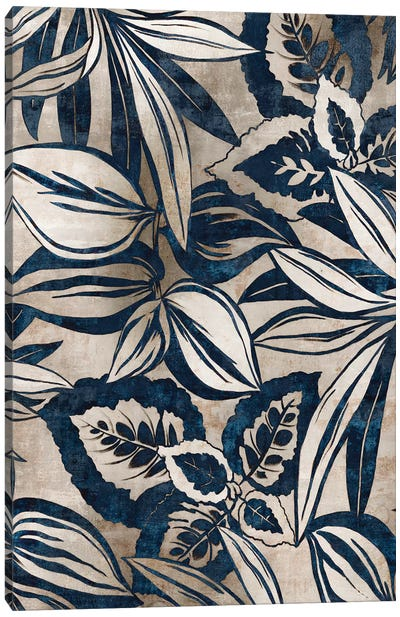 Blue Foliage II  Canvas Art Print
