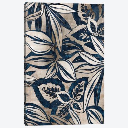 Blue Foliage II  Canvas Print #EWA85} by Eva Watts Canvas Art Print