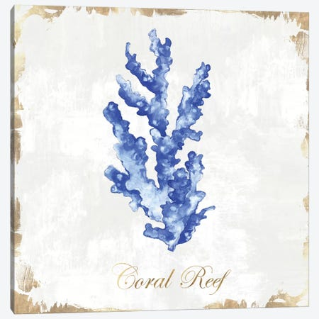 Blue Sea Coral  3-Piece Canvas #EWA86} by Eva Watts Art Print