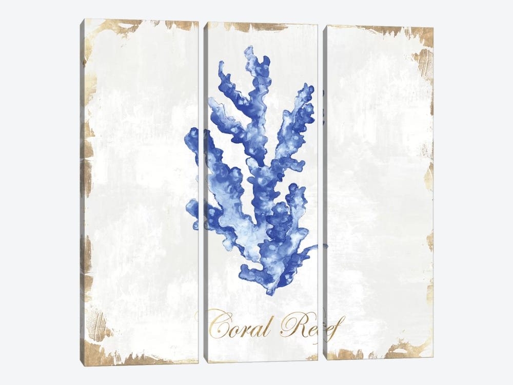 Blue Sea Coral  by Eva Watts 3-piece Canvas Art Print