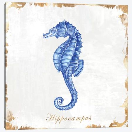 Blue Sea Horse Canvas Print #EWA87} by Eva Watts Canvas Print