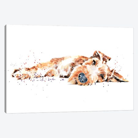 Irish Terrier II Canvas Print #EWC119} by EdsWatercolours Canvas Artwork