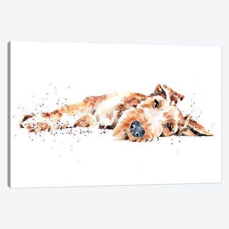 Irish Terrier II Canvas Print #EWC119} by EdsWatercolours Canvas Artwork