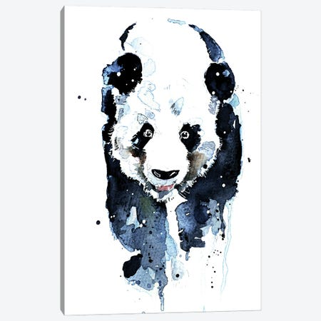 Panda Hot Stepper Canvas Print #EWC156} by EdsWatercolours Canvas Print