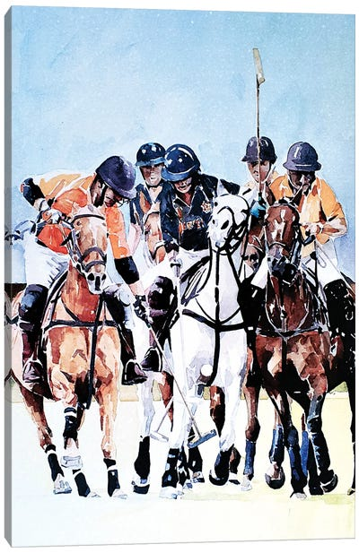 Ride Off Polo Canvas Art Print