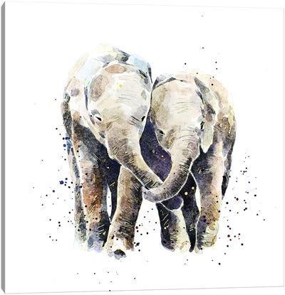 Two Elephants Canvas Art Print