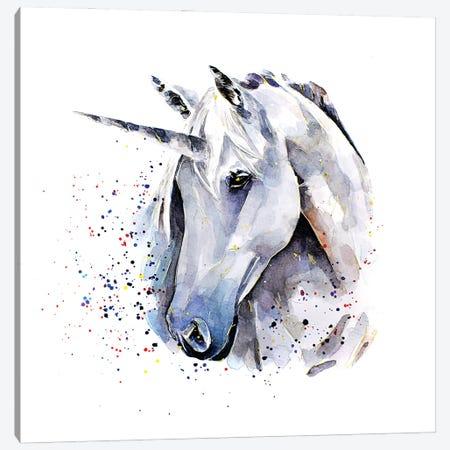Unicorn Canvas Print #EWC203} by EdsWatercolours Canvas Art