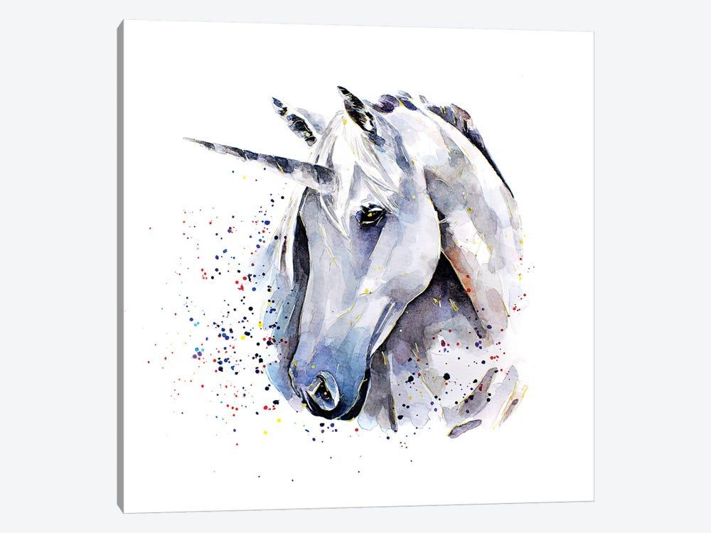 Unicorn by EdsWatercolours 1-piece Canvas Print
