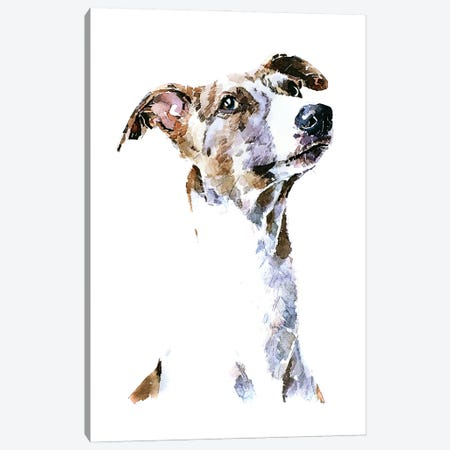 Whippet 3-Piece Canvas #EWC225} by EdsWatercolours Canvas Art Print