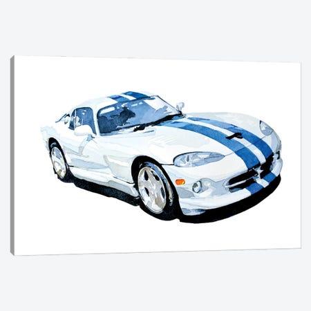 Car Canvas Print #EWC50} by EdsWatercolours Art Print