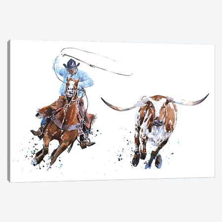 Catch Me If You Can Canvas Print #EWC51} by EdsWatercolours Canvas Art Print