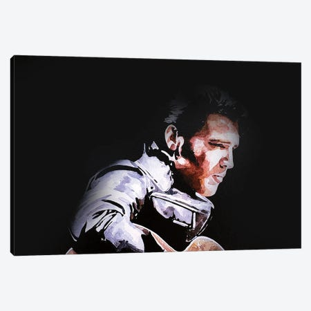 Elvis Canvas Print #EWC79} by EdsWatercolours Canvas Print