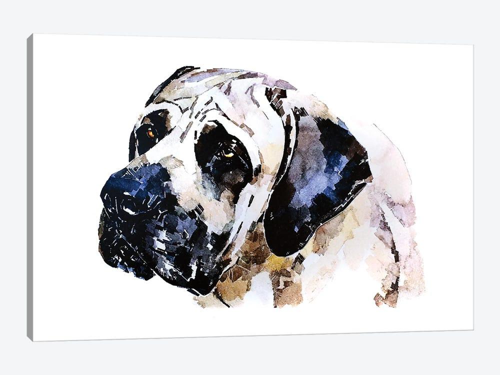 English Mastiff by EdsWatercolours 1-piece Canvas Print