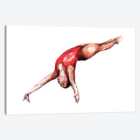 Entry Point - The Swimmer Canvas Print #EWC85} by EdsWatercolours Canvas Art Print