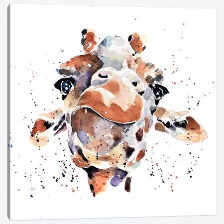 Giraffe I Canvas Print #EWC97} by EdsWatercolours Canvas Artwork