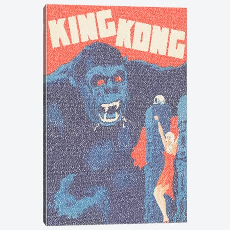 King Kong (Danish Market Movie Poster) Canvas Print #EWE10} by Robotic Ewe Canvas Print