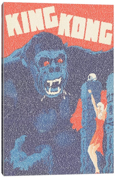 King Kong (Danish Market Movie Poster) Canvas Art Print