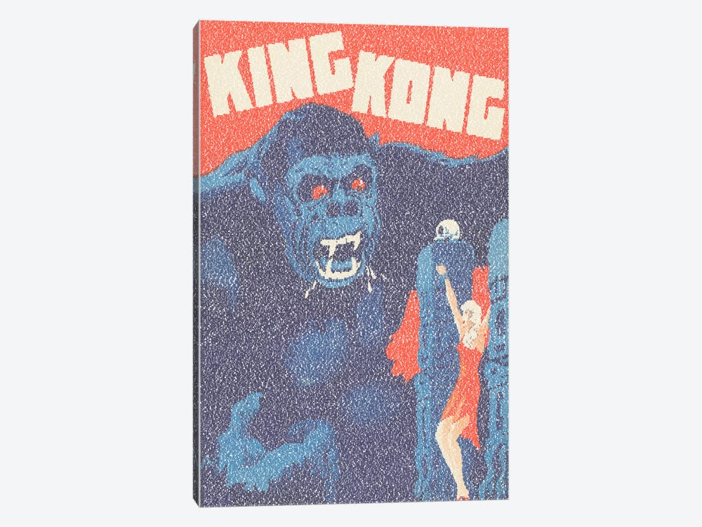 King Kong (Danish Market Movie Poster) by Robotic Ewe 1-piece Canvas Art Print