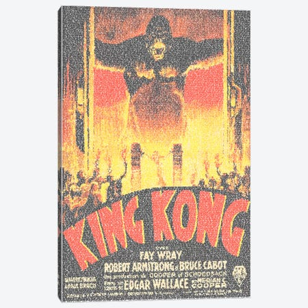 King Kong (French Market Movie Poster) Canvas Print #EWE11} by Robotic Ewe Canvas Art Print