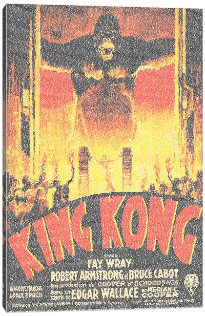 King Kong (French Market Movie Poster) Canvas Print #EWE11
