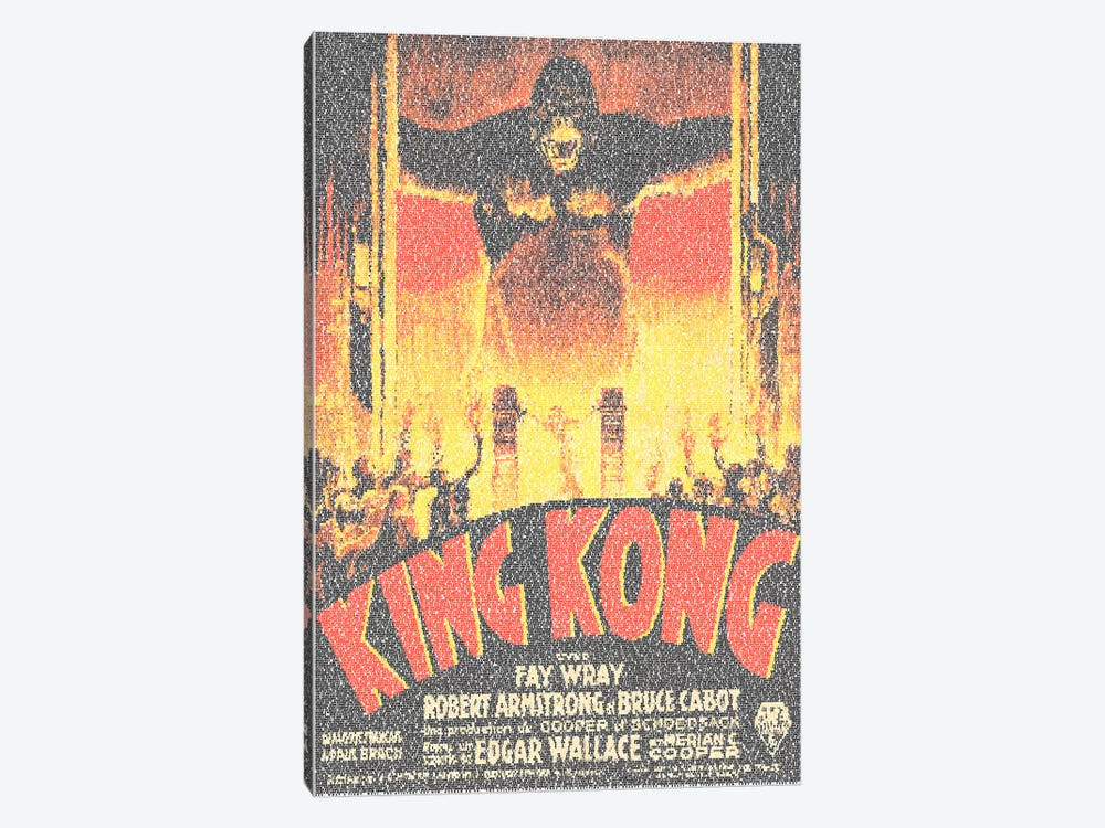 King Kong (French Market Movie Poster) by Robotic Ewe 1-piece Canvas Art