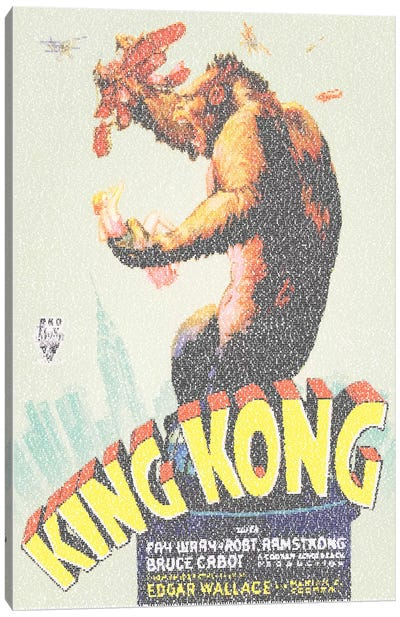 King Kong (U.S. Market Movie Poster) Canvas Art Print