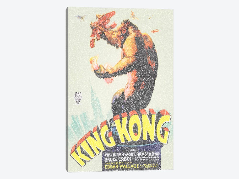 King Kong (U.S. Market Movie Poster) 1-piece Canvas Print