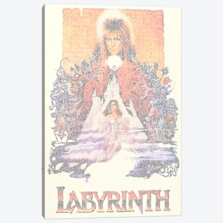 Labyrinth Canvas Print #EWE13} by Robotic Ewe Canvas Art Print
