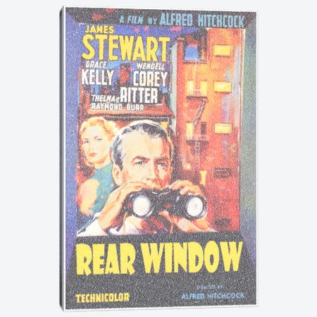 Rear Window Canvas Print #EWE14} by Robotic Ewe Canvas Artwork