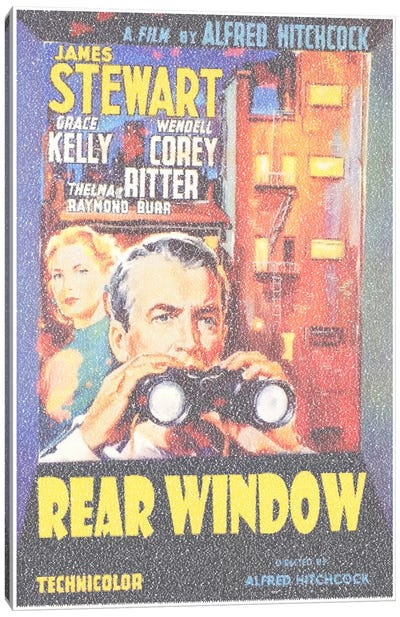 Rear Window Canvas Art Print