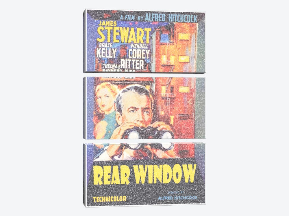 Rear Window by Robotic Ewe 3-piece Art Print