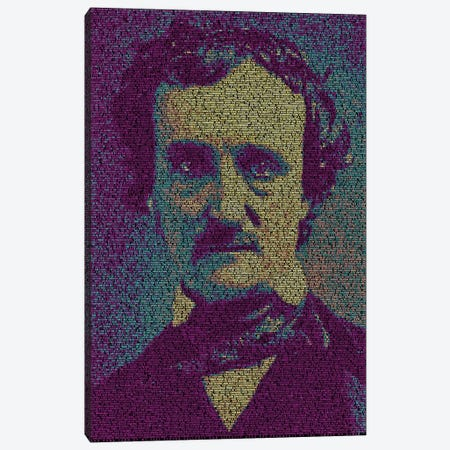 Poe - The Fall Of The House Of Usher Canvas Print #EWE19} by Robotic Ewe Canvas Art Print