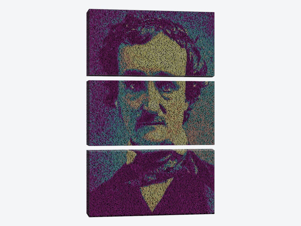 Poe - The Fall Of The House Of Usher by Robotic Ewe 3-piece Canvas Wall Art