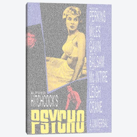 Psycho Canvas Print #EWE20} by Robotic Ewe Canvas Artwork
