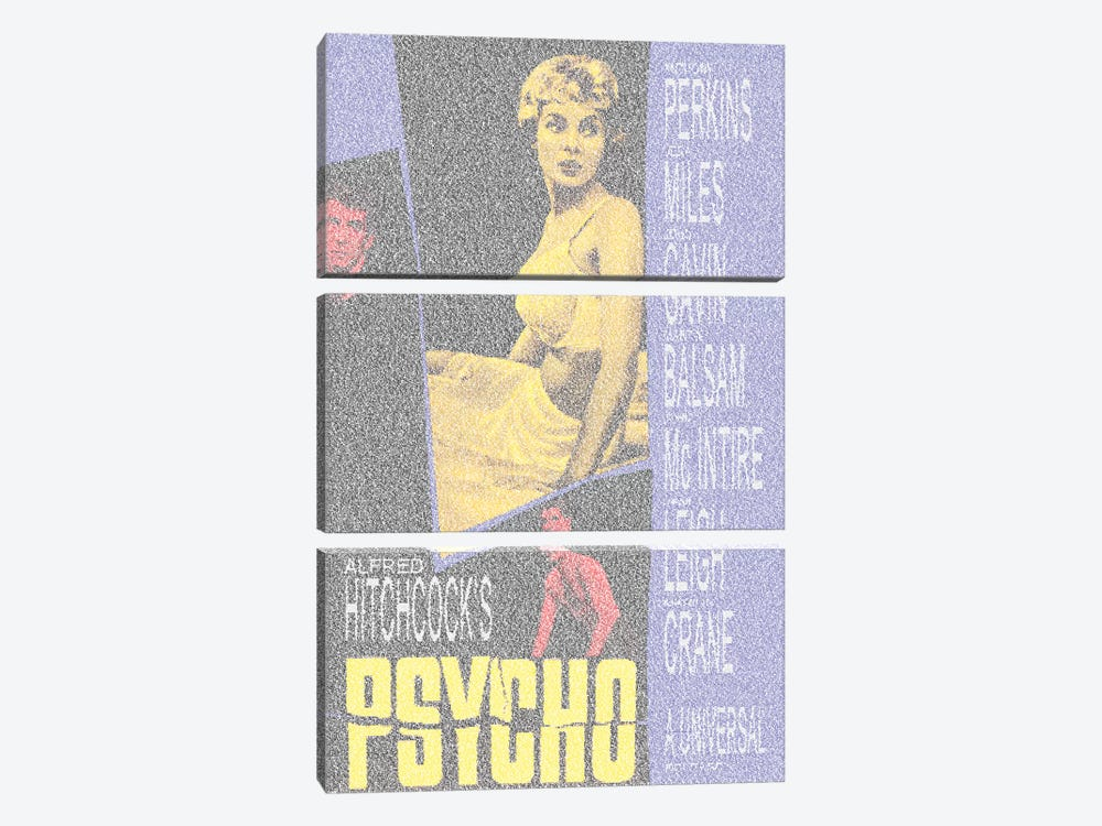 Psycho by Robotic Ewe 3-piece Canvas Wall Art
