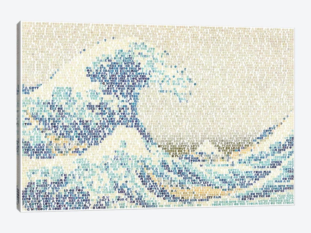Riders On The Great Wave by Robotic Ewe 1-piece Canvas Wall Art