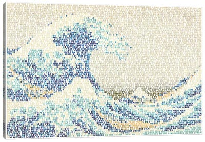 Riders On The Great Wave Canvas Art Print