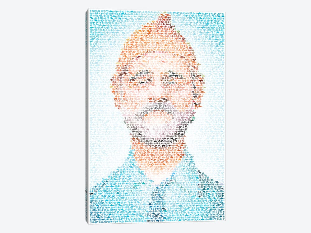 Steve Zissou by Robotic Ewe 1-piece Canvas Wall Art