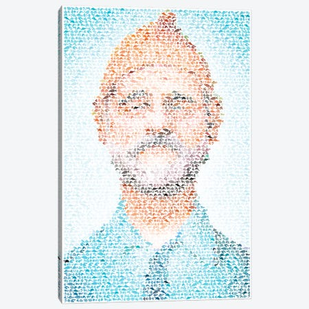 Steve Zissou Canvas Print #EWE24} by Robotic Ewe Canvas Print