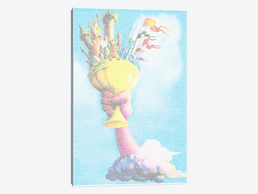 The Holy Grail by Robotic Ewe 1-piece Canvas Print
