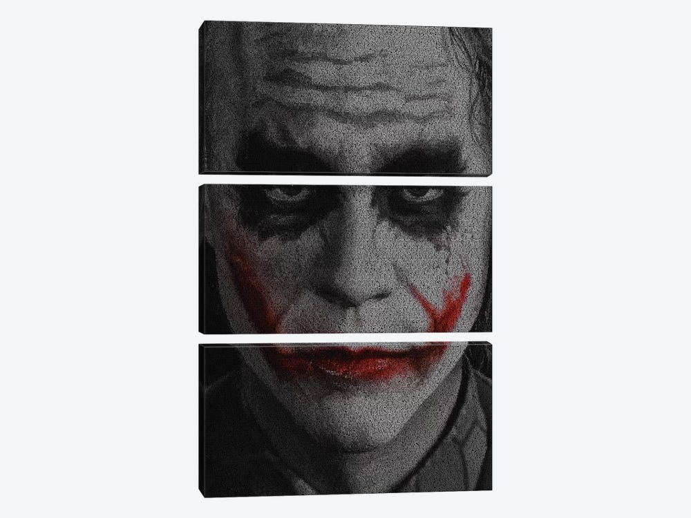 The Joker by Robotic Ewe 3-piece Canvas Artwork
