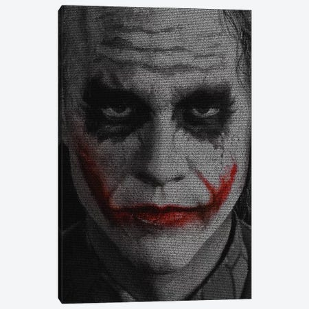 The Joker Canvas Print #EWE26} by Robotic Ewe Art Print