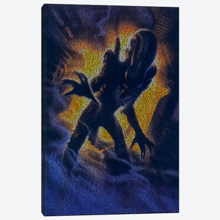 Alien Canvas Print #EWE2} by Robotic Ewe Canvas Print