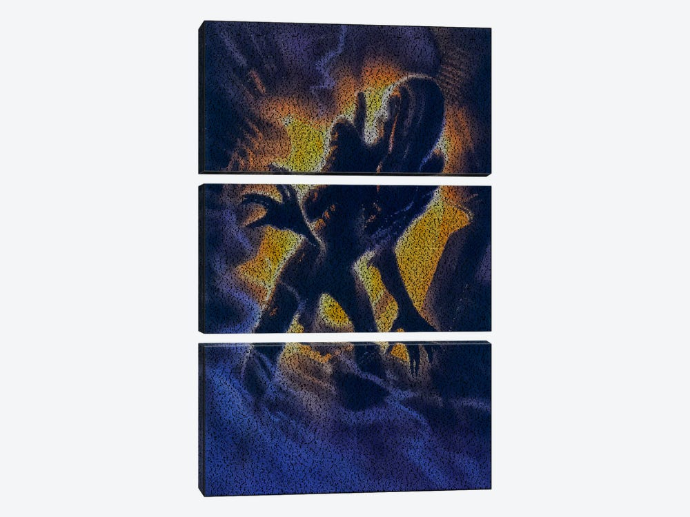 Alien by Robotic Ewe 3-piece Canvas Artwork
